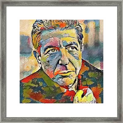 Leonard Cohen Tribute 3 Framed Print