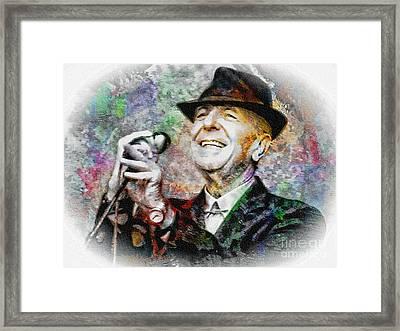 Leonard Cohen - Tribute Painting Framed Print