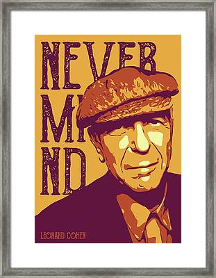 Leonard Cohen Framed Print by Yeliz Atik