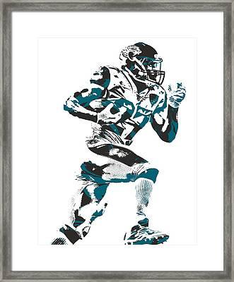 Leonard Fournette Jacksonville Jaguars Pixel Art 11 Framed Print
