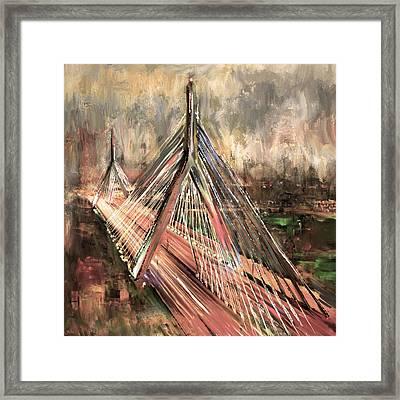 Leonard P. Zakim Bunker Hill Memorial Bridge 219 3 Framed Print
