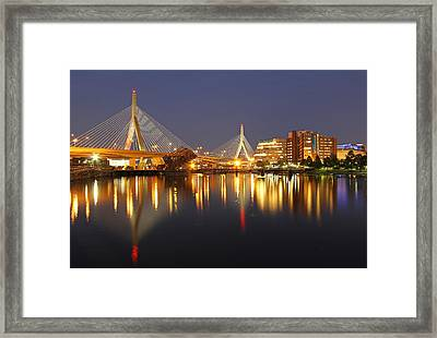 Leonard P. Zakim Bunker Hill Memorial Bridge Framed Print