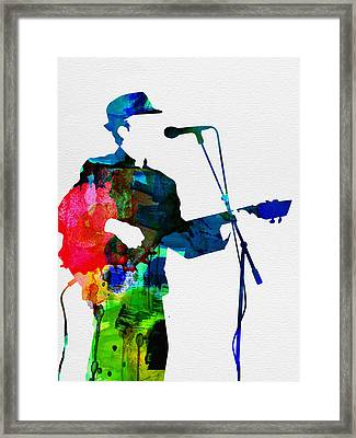Leonard Watercolor Framed Print by Naxart Studio