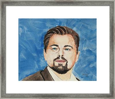Leonardo Dicaprio  30 Minutes Watercolor Painting  Framed Print by Edwin Alverio