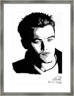 Leonardo Dicaprio Portrait Framed Print by Alban Dizdari
