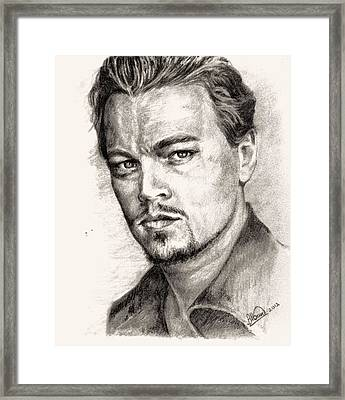 Leonardo Dicaprio Portrait Nr.2 Framed Print