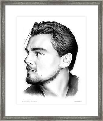 Leonardo Dicarprio Framed Print