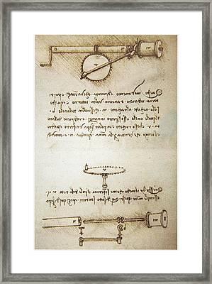 Leonardo's Automatic Bobbin Winder Framed Print by Sheila Terry