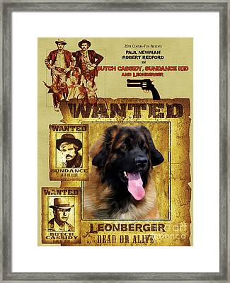 Leonberger Art Canvas Print - Butch Cassidy And The Sundance Kid Movie Poster Framed Print