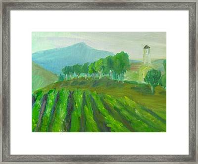 Leonesse Cellars Home On The Hill Framed Print