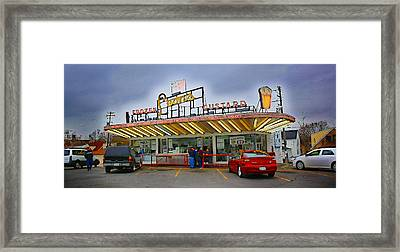 Leon's Custard Stand Framed Print