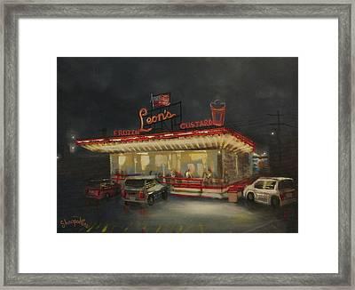 Leon's Frozen Custard Framed Print