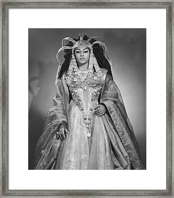 Leontyne Price B. 1927, As Cleopatra Framed Print