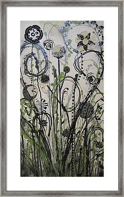 Framed Print featuring the painting Leopard Garden by Ashley Price