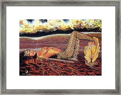Leopard Mermaid Framed Print