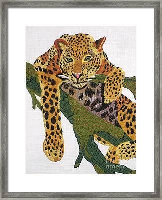 Leopard Framed Print by Pauline Lepera Price