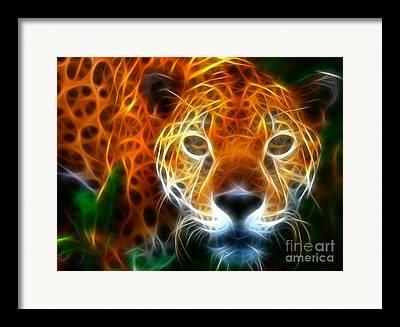 Leopard Running Framed Prints