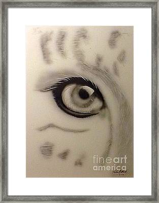 Leopard's Eye Framed Print