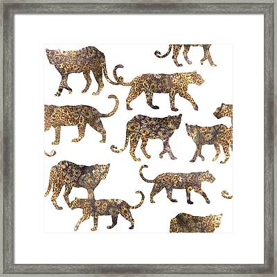 Leopards Framed Print