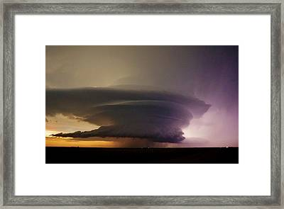 Leoti, Ks Supercell Framed Print