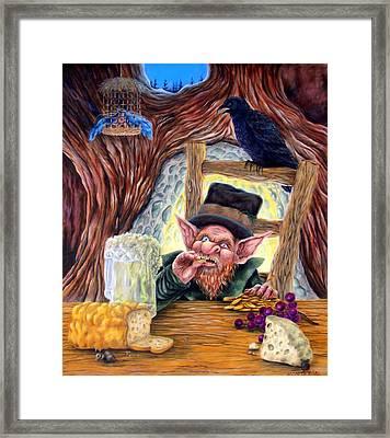 Leprechaun's Lair Framed Print by Heather Calderon