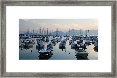 Lerici Marina Framed Print by Neil Buchan-Grant