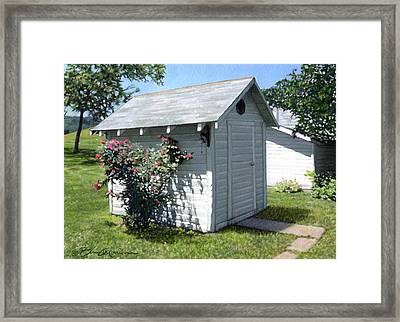 Leroy And Sally's Smokehouse Framed Print by Bruce Morrison