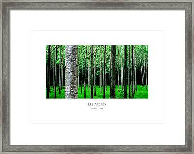 Framed Print featuring the digital art Les Arbres by Julian Perry