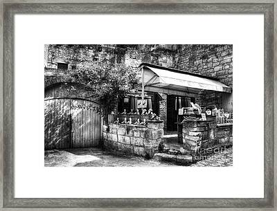 Les Baux De Provence 5 Bw Framed Print