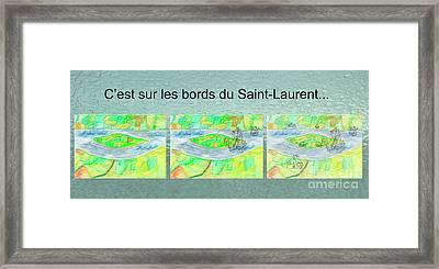 C'est Sur Les Bords Du Saint-laurent Mug Shot Framed Print