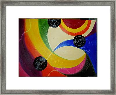 Les Boutons Noirs 2 Framed Print by Dominique Boutaud