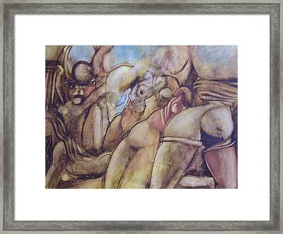 Les Cent Jours De Sodome. Framed Print by Thierry-guenand   DAUGENN-