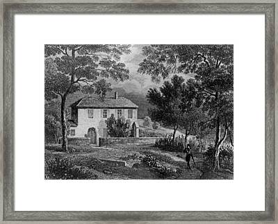 Les Charmettes House Of Madame De Warens Near Chambery Framed Print by French School