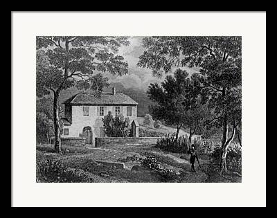 Charming Cottage Drawings Framed Prints