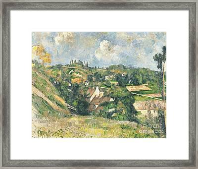 Les Coteaux Du Chou, Pontoise, 1882 Framed Print