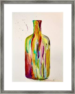 Les Couleurs De L' Eau De La Vie Framed Print by Beverley Harper Tinsley