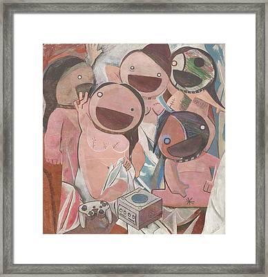 Les Demoiselles D'avignon Framed Print