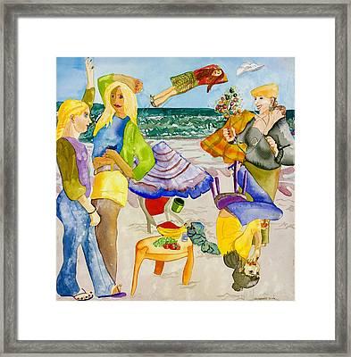 Les Demoiselles Of Santa Cruz V4 Framed Print by Susan Cafarelli Burke