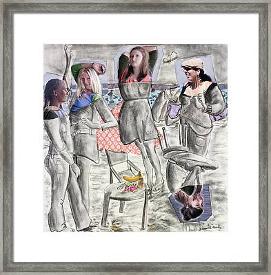 Les Demoiselles Of Santa Cruz V8 Framed Print by Susan Cafarelli Burke