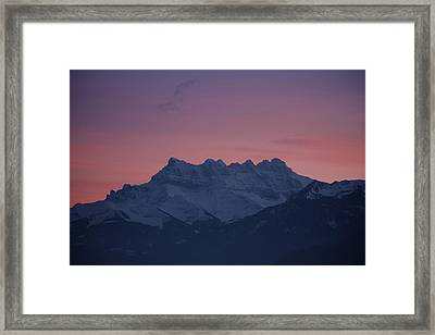 Les Dents Du Midi Framed Print