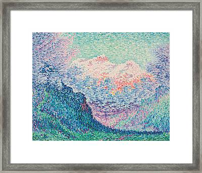 Les Diablerets Framed Print by Paul Signac