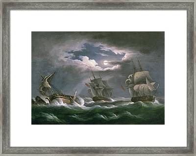 Les Droits De L'homme Framed Print by Thomas Luny