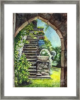 Les Escaliers En Bandouille In Sevres France  Framed Print by Carol Wisniewski