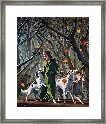 Les Feuilles Mortes Framed Print by Jo King