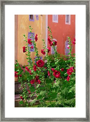 Les Fleurs Rouge Framed Print