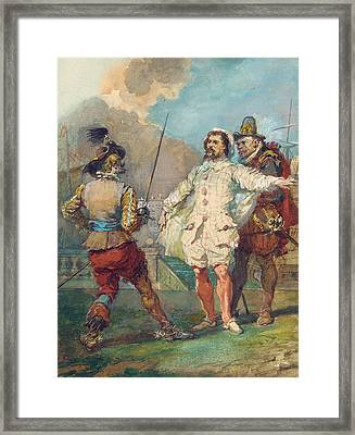 Les Fourberies De Scapin Framed Print by Eugene-Louis Lami