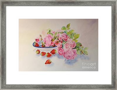 Framed Print featuring the painting Les Fruits De L'ete by Beatrice Cloake