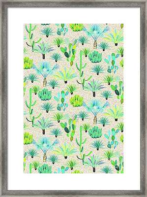 Les Jardins Majorelle  Cacti Framed Print