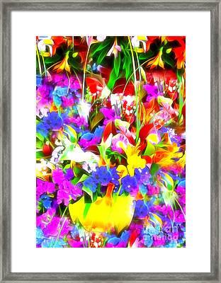 Les Jolies Fleurs Framed Print