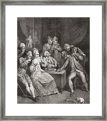 Les Joueurs, Or The Players, After P.a Framed Print